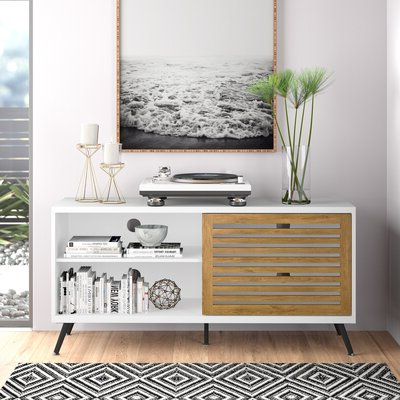 """2019 Berene Tv Stands For Tvs Up To 58"""" For Modern White Tv Stands (View 20 of 30)"""
