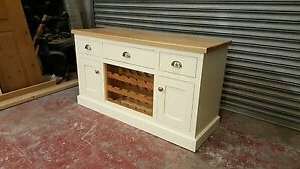 """2019 Cream Pine Oak 2 Door Sideboard With Drawers/made To Within Bruin 56"""" Wide 2 Drawer Sideboards (View 8 of 30)"""