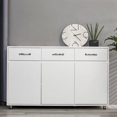 """2019 Ebern Designs Uehling 52.36"""" Wide 3 Drawer Credenza For Abdisalan (View 5 of 17)"""