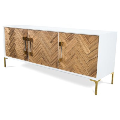 """2019 Herringbone 48"""" Wide Buffet Tables For Amalfi 72"""" Wide Buffet Table (View 3 of 30)"""