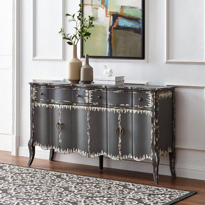 """2019 Kelly Clarkson Home Hahn 60"""" Wide 2 Drawer Credenza For Myndi 60"""" Wide Sideboards (View 24 of 30)"""