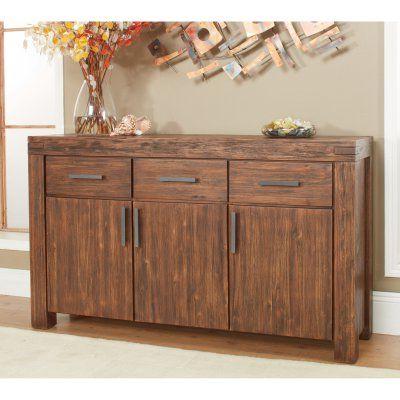 2020 3 Drawer Sideboards For Modus Meadow 3 Door 3 Drawer Solid Wood Sideboard – Brick (View 4 of 30)