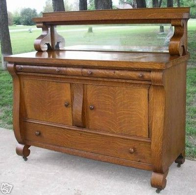 """2020 American Antique Empire Sideboard Buffet Server With Inside Pardeesville 55"""" Wide Buffet Tables (View 4 of 30)"""
