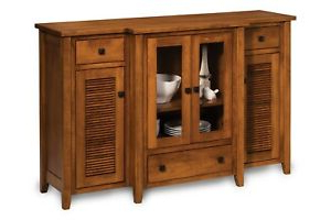 "2020 Amish Coastal Solid Wood Buffet Louvered Doors Lakeland 72 Regarding Francisca 40"" Wide Maple Wood Sideboards (View 5 of 30)"
