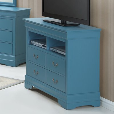 2020 Blaire Solid Wood Tv Stands For Tvs Up To 75 With Blue & Green Tv Stands & Entertainment Centers You'll Love (View 24 of 30)