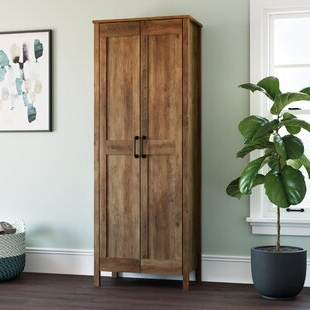 2020 Millwood Pines Floor Storage Cabinet With 2 Doors And 2 Open Shelves Throughout Countertop Storage Cabinet (View 17 of 30)