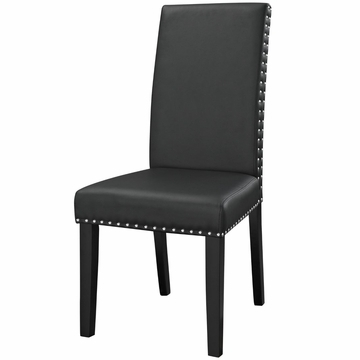 2020 Richawara Concise Buffet Tables Pertaining To Modway Parcel Dining Faux Leather Side Chair In Black My (View 15 of 30)