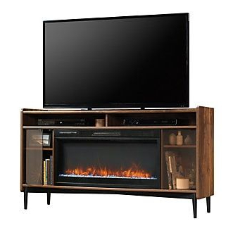 2020 Sauder Harvey Park Entertainment Credenza With Fireplace For Park Credenzas (View 18 of 30)