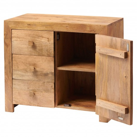 3 Drawer Sideboards Within Latest Toko Light Mango 3 Drawer Sideboard – Sideboards And (View 16 of 30)