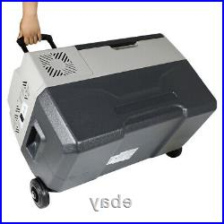 30l Portable Fridge/freezer 12/24v Dc Car Compact Cooler Within Most Recently Released Richawara Concise Buffet Tables (View 10 of 30)