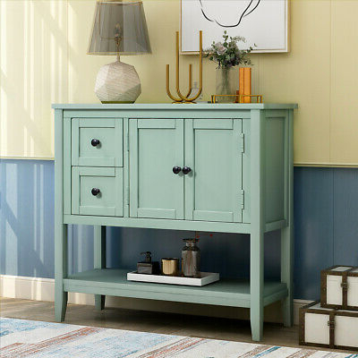 """36 Inch Entryway Console Sofa Table Buffet Sideboard In Most Recent Nahant 36"""" Wide 4 Drawer Sideboards (View 7 of 30)"""
