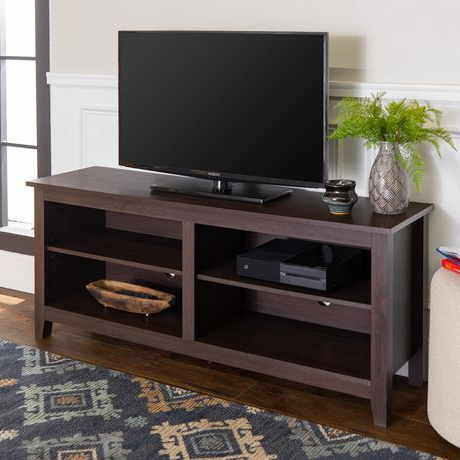 """58"""" Espresso Wood Tv Stand (View 2 of 30)"""
