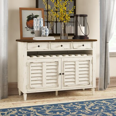 """64"""" Wide Rubberwood Sideboards In Fashionable Farmhouse & Rustic Sideboards & Buffets (View 20 of 30)"""