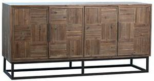 "68"" L Olga Sideboard Solid Acacia Wood Modern Metal Base With Regard To Latest Palisade 68"" Wide Sideboards (View 14 of 30)"