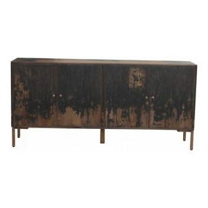 """71"""" W Sideboard Antique Black Finished Solid Mango Wood With 2020 Maddox 80"""" Wide Mango Wood Sideboards (View 14 of 30)"""