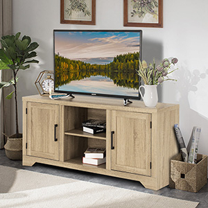 """Aaric Tv Stands For Tvs Up To 65"""" Intended For Latest Amazon: Tangkula Farmhouse Barn Wood Tv Stand For Tvs (View 19 of 30)"""