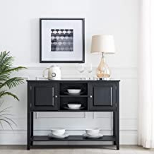 """Aayah 45"""" Wide 2 Drawer Servers In Popular Amazon: Rustic Sideboards And Buffets (View 16 of 30)"""