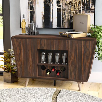 """Aayah 45"""" Wide 2 Drawer Servers Intended For 2019 Wine Glass Storage Equipped Sideboards & Buffets You'll (View 12 of 30)"""