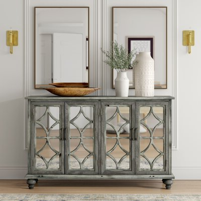 """Aayah 45"""" Wide 2 Drawer Servers Pertaining To Recent Grey Sideboards & Buffets You'll Love In  (View 10 of 30)"""