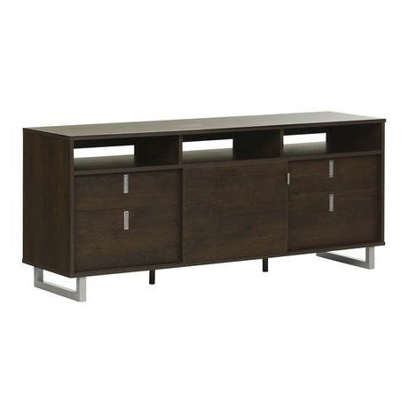 """Alannah Tv Stands For Tvs Up To 60"""" Pertaining To Most Up To Date South Shore Uber Tv Stand For Tvs Up 60'', Brown Oak (View 15 of 30)"""