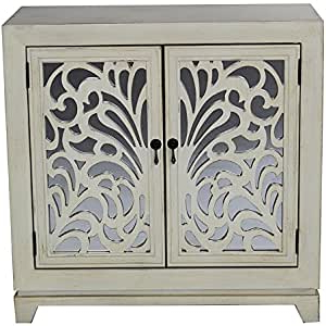Amazon: Heather Ann Creations 2 Door Accent Cabinet Inside Current Wood Accent Sideboards Buffet Serving Storage Cabinet With 4 Framed Glass Doors (View 18 of 30)
