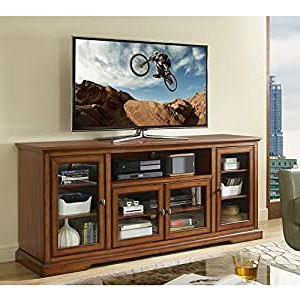 """Amazon: New 70 Inch Wide Highboy Style Wood Tv Stand With Regard To Widely Used Mainor Tv Stands For Tvs Up To 70"""" (View 5 of 30)"""