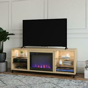"""Ameriwood Home Lumina Deluxe Fireplace Tv Stand For Tvs Up Inside Newest Lorraine Tv Stands For Tvs Up To 70"""" (View 3 of 30)"""