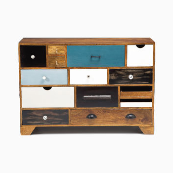"""Aneisa 70"""" Wide 6 Drawer Mango Wood Sideboards Regarding Widely Used Upcycled Sideboardi Love Retro (View 10 of 30)"""