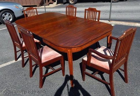 """Antique 9pc Solid Mahogany Dining Room Set Bell Flower With Best And Newest Francisca 40"""" Wide Maple Wood Sideboards (View 22 of 30)"""