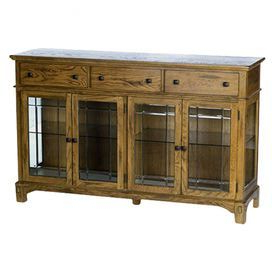 """Artfully Crafted From Red Oak, This Country Chic Buffet For Well Known Jakobe 66"""" Wide Sideboards (View 22 of 30)"""