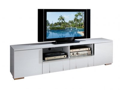"""Av291 75 Tv Stand In White High Glosspantek For Preferred Lucille Tv Stands For Tvs Up To 75"""" (View 20 of 30)"""