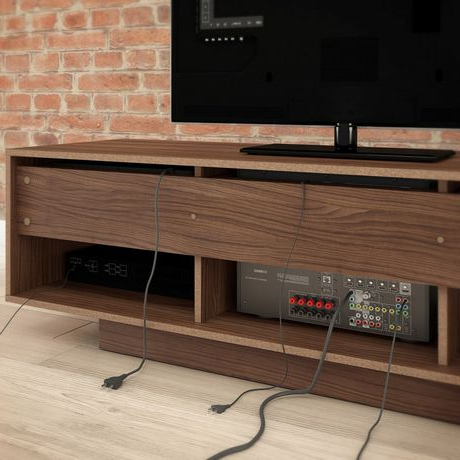 """Avenir Tv Stands For Tvs Up To 60"""" Pertaining To Newest Nexera 60 Inch Sequence Tv Stand, Walnut & White (View 30 of 30)"""