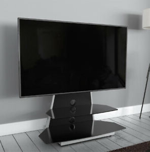 """Avf Options Stkl900a Stack Black Tv Stand Cabinet Unit For Throughout 2020 Bloomfield Tv Stands For Tvs Up To 65"""" (View 5 of 30)"""