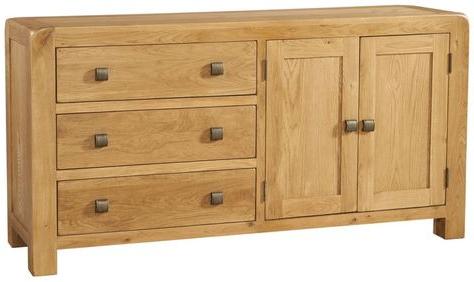 "Avon Oak 2 Door 3 Drawer Sideboarddevonshire Within Preferred Orianne 55"" Wide 2 Drawer Sideboards (View 28 of 30)"