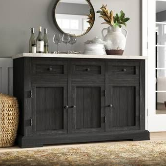 """Ballintoy 58"""" Wide Wooden Sideboard In  (View 22 of 30)"""