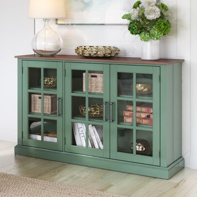 """Barkell 42"""" Wide 2 Drawer Acacia Wood Drawer Servers For Preferred Coastal Sideboards & Buffets You'll Love In (View 27 of 30)"""
