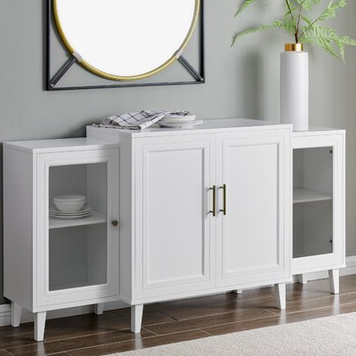 """Barkell 42"""" Wide 2 Drawer Acacia Wood Drawer Servers In Fashionable White Sideboards & Buffets You'll Love In (View 2 of 30)"""