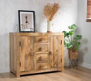 "Beckenham 73"" Wide Mango Wood Buffet Tables In Well Liked Dakota Light Mango Sideboard Cupboard W/drawers Solid Wood (View 3 of 30)"