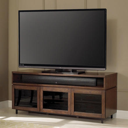 """Bello Pr45 Cocoa Finish Wood Home Entertainment Cabinet Tv For Most Up To Date Lederman Tv Stands For Tvs Up To 70"""" (View 8 of 30)"""
