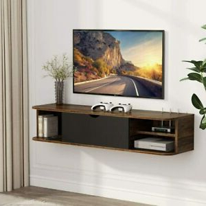 """Best And Newest 43 Inch Floating Wall Mounted Vintage Tv Shelf Tv Stand Throughout Quillen Tv Stands For Tvs Up To 43"""" (View 8 of 30)"""