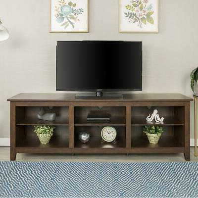 """Best And Newest 70"""" Wood Media Tv Stand Storage Console – Traditional Intended For Mainor Tv Stands For Tvs Up To 70"""" (View 30 of 30)"""