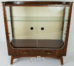 Best And Newest Antique Art Deco Display Cabinet Mahogany With Glass Doors Inside Wood Accent Sideboards Buffet Serving Storage Cabinet With 4 Framed Glass Doors (View 14 of 30)