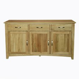 """Best And Newest Avalon 3 Drawer Oak Sideboard/buffet Pertaining To Ismay 56"""" Wide 3 Drawer Sideboards (View 13 of 30)"""