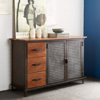 Best And Newest Evoke 2 Door 3 Drawer Sideboard Reclaimed Metal And Wood With Regard To  (View 14 of 30)