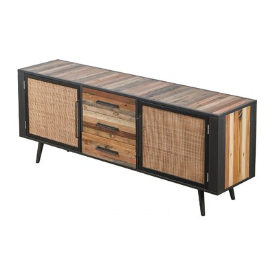 """Best And Newest Fahey 58"""" Wide 3 Drawer Acacia Wood Sideboards For Sideboards & Buffet Tables You'll Love In (View 27 of 30)"""