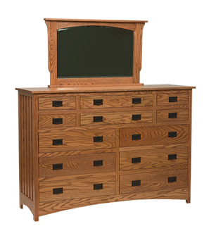 """Best And Newest Francisca 40"""" Wide Maple Wood Sideboards Within Schwartz Mission 12 Drawer Dresser (View 21 of 30)"""