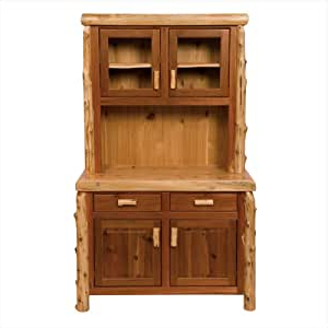 """Best And Newest Herringbone 48"""" Wide Buffet Tables Intended For Amazon – Fireside Lodge Furniture Cedar Buffet And (View 12 of 30)"""
