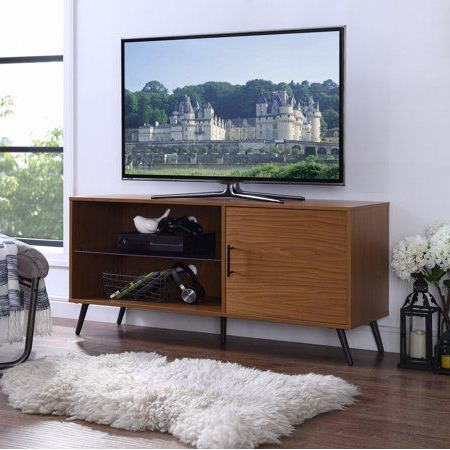 """Best And Newest Thea Dark Walnut Tv Stand For Tvs Up To 58""""bellamy Throughout Greggs Tv Stands For Tvs Up To 58"""" (View 7 of 30)"""