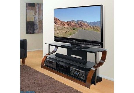 """Binegar Tv Stands For Tvs Up To 65"""" Inside Preferred Bell'o 65"""" Wide Curved Wood Tv Stand – Cw342 (limited Time (View 2 of 30)"""