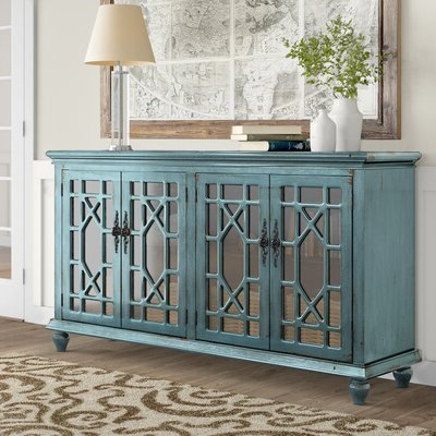 """Birch Lane For Most Current Fahey 58"""" Wide 3 Drawer Acacia Wood Sideboards (View 20 of 30)"""